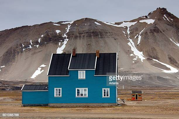 Koldewey Station for Arctic and marine research at NyAlesund on Svalbard / Spitsbergen Norway