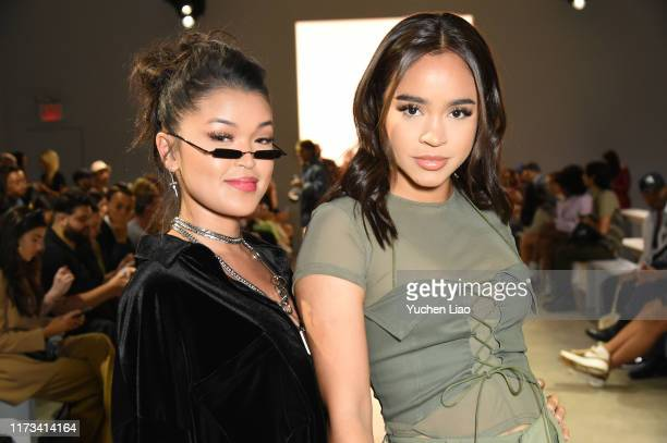 Koleen Diaz and Maria Bethany attend the Barragan front row during New York Fashion Week: The Shows at Gallery II at Spring Studios on September 09,...