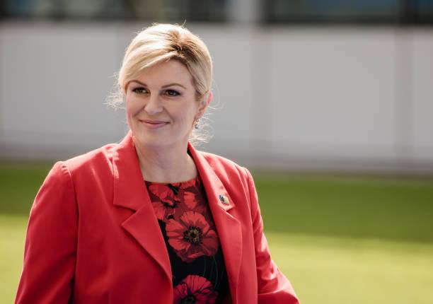 Kolinda Grabar Kitarovic, Croatia's president, arrives at the North Atlantic Treaty Organization summit at the military and political alliance's...