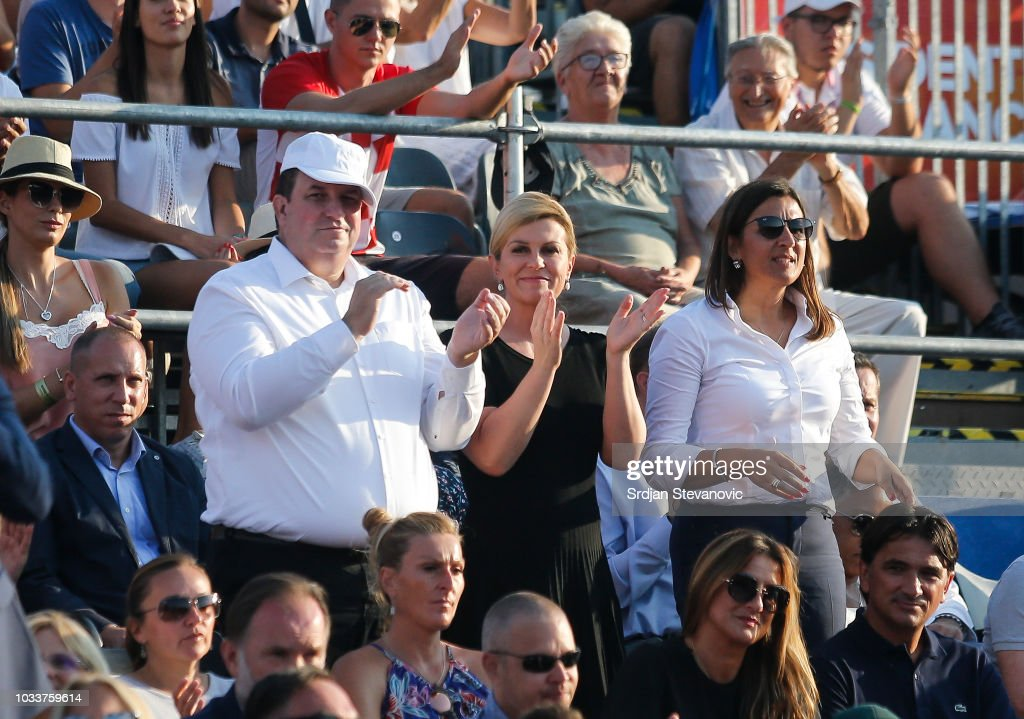 Croatia v USA - Davis Cup by BNP Paribas World Group Semi Final: Day Two : News Photo