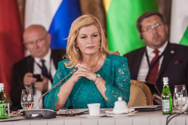 Kolinda Grabar-Kitarovic, the President of the Republic of Croatia, in the Three Seas Initiative Summit in Warsaw, Poland.