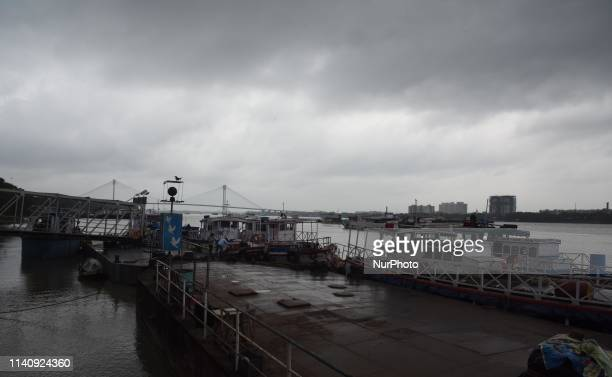 Kolkata Babughat on May 3 as Cyclone Fani barrels northeastwards into West Bengal state and towards Bangladesh Two people died on May 3 after Cyclone...