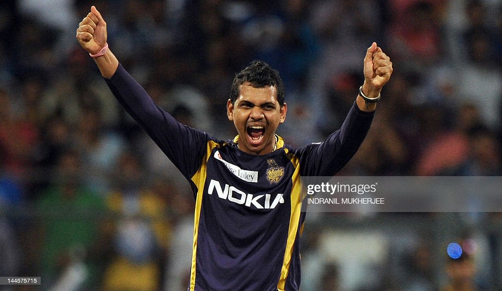 Kolkata Knight Riders cricketer Sunil Na : News Photo