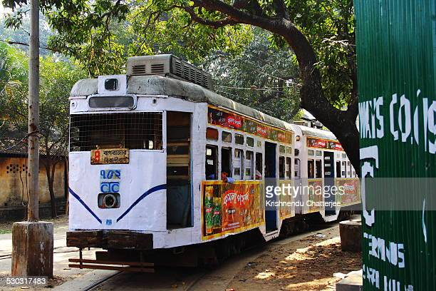 kolkata tram - kolkata stock pictures, royalty-free photos & images