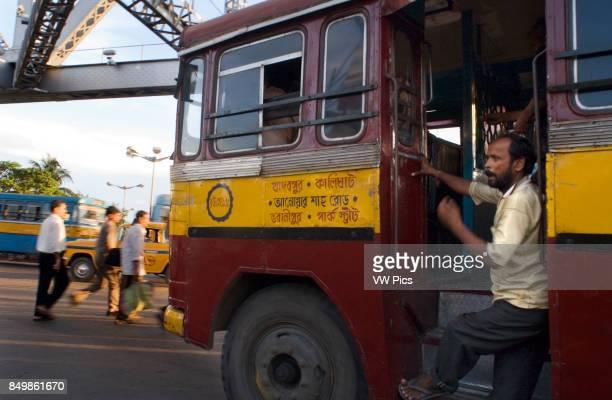 Kolkata West Bengal India Kolkata bus Buses are chaotic and can get terribly crowded