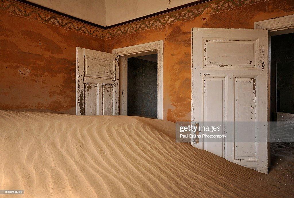 Kolmanskop - Open Doors : Stock Photo