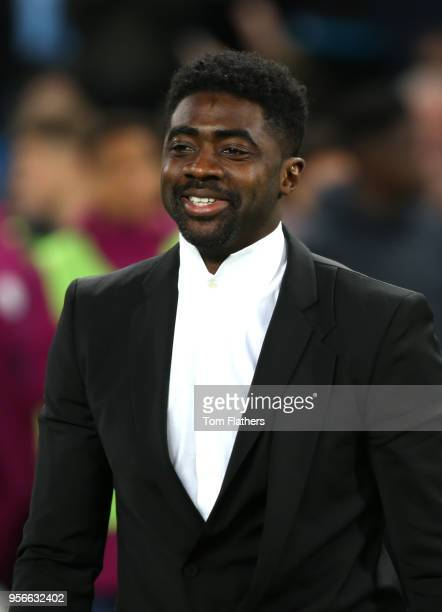 Kolo Toure looks on after the Premier League match between Manchester City and Brighton and Hove Albion at Etihad Stadium on May 9 2018 in Manchester...
