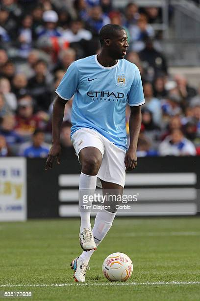 Kolo Toure Manchester City in action during the Manchester City V Chelsea friendly exhibition match at Yankee Stadium The Bronx New York Manchester...