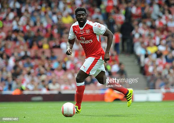 Kolo Toure of Arsenal Legends during the Arsenal Foundation Charity match between Arsenal Legends and Milan Glorie at Emirates Stadium on September 3...