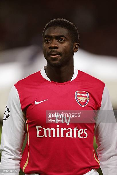 Kolo Toure of Arsenal poses for a picture before the UEFA Champions League Group G match between Arsenal and Hamburg SV at The Emirates Stadium on...