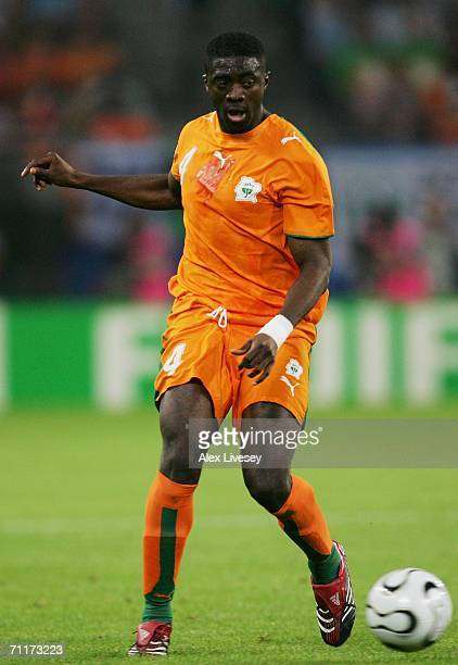 Kolo Toure of Ivory Coast in action during the FIFA World Cup Germany 2006 Group C match between Argentina and Ivory Coast played at the Stadium...