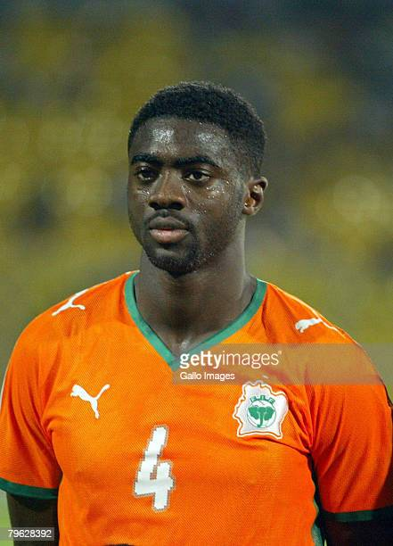 Kolo Toure of Ivory Coast plays in the AFCON semi-final match between Ivory Coast and Egypt held at the Baba Yara Stadium February 7, 2008 in Kumasi,...