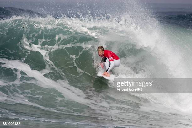Kolohe Andino from the US performs during the Quicksilver Pro France surf competition on October 13 2017 in Hossegor France The French stage of the...