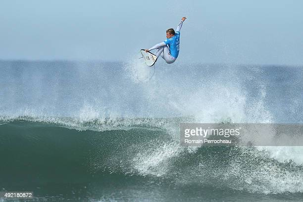 Kolohe Andino of USA surfs into round 3 of Quiksilver Pro on October 10 2015 in Hossegor France