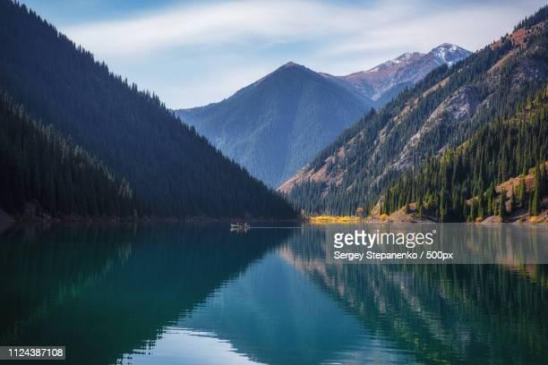 kolsai lake - kyrgyzstan stock pictures, royalty-free photos & images