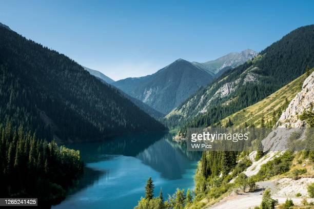 Kolsay Lakes National Park, in Kungoy Ala Range from the biggest Tian Shan Range.