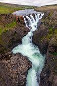 Koluglijufur Gorge Waterfall in Iceland
