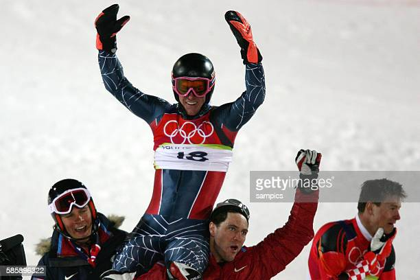 Kombinations Slalom der Mnner Ted Ligety USA Olympiasieger Gold Ski Alpin Skiing Slalom Combination 1422006 olympische Winterspiele in Turin 2006...