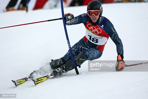 Kombinations Slalom der Mnner Ted Ligety USA Ski Alpin Skiing Slalom Combination 1422006 olympische Winterspiele in Turin 2006 olympic winter games...
