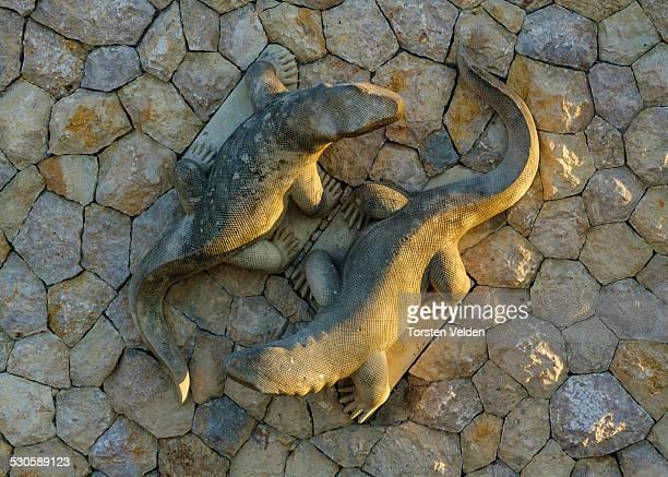 Komodo Dragons Sculpture
