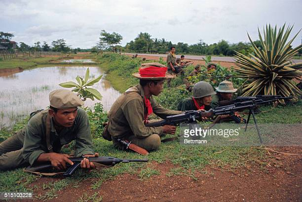 Kompong Speu South Vietnam At the Northern edge of town of Kompong Speu 25 miles Southwest of Phnom Penh fighting between Vietcong North Vietnamese...