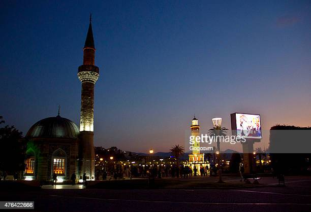 konak mosque - izmir stock pictures, royalty-free photos & images