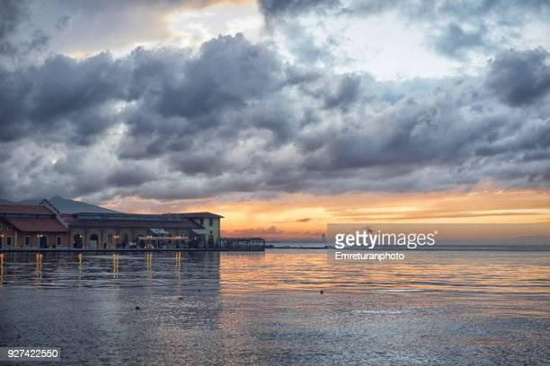 konak pier view at sunset,izmir. - emreturanphoto stock pictures, royalty-free photos & images
