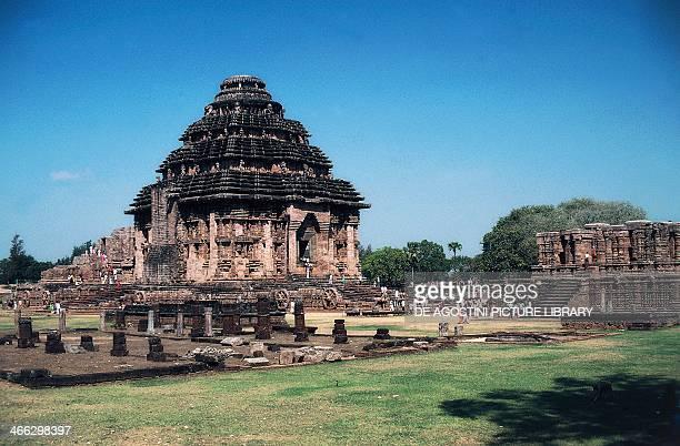 Konark Sun Temple or the Black Pagoda built by Narasimhadeva of the Gangaintorno Dynasty Konarak Orissa India