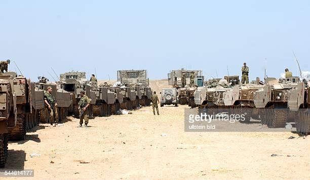 Konflikt IsraelPalästina Die israelische Armee bereitet sich auf einen eventuellen Einmarsch in Gaza vor nachdem Palaestinenser einen israelischen...