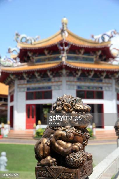 Kong Meng San Phor Kark See Monastery Hall of Amrita Precepts Imperial guardian lion Singapore