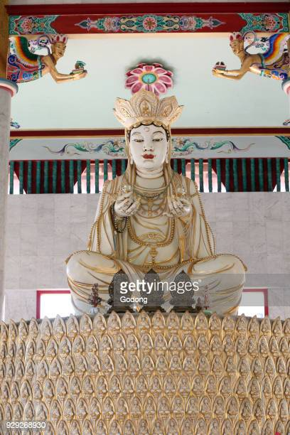 Kong Meng San Phor Kark See Monastery Hall of Amrita Precepts Rocana Buddha who represents the sambhogakaya of Shakyamuni Buddha Singapore