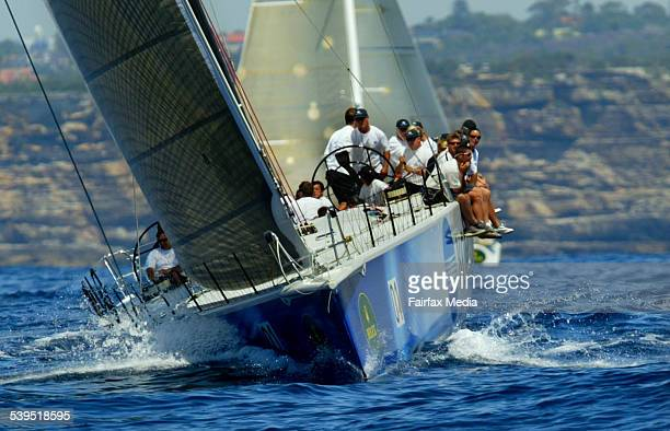 Konica Minolta on her way to taking line honours in Race 1 offshore on the third day of the Rolex Trophy 18 December 2004 SHD Picture by Dallas...