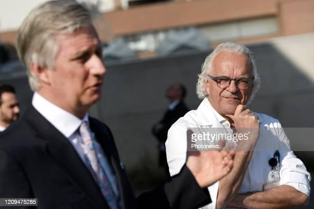 - Koning Filip brengt een bezoek aan Universitair Ziekenhuis Jette De bijkomende COVID-capaciteit die werd gecreëerd om de capaciteit op intensieve...