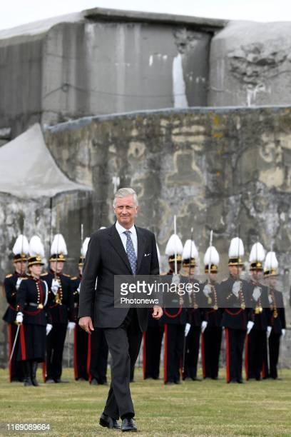 Koning Filip woont de 75ste nationale bedevaart van het Fort van Breendonk bij Hij brengt hulde en herdenkt alle politieke gevangenen en andere...