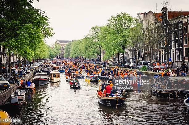 koningsdag 2014 年にアムステルダム - オランダ 王の日 ストックフォトと画像