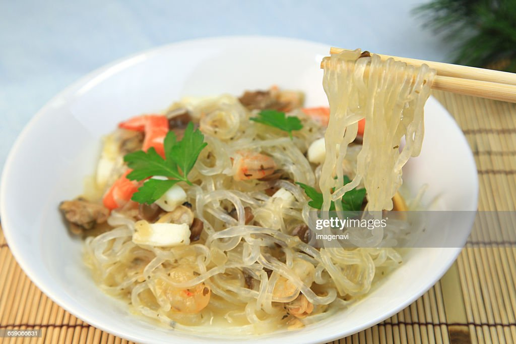Konjac Pasta : Stock Photo