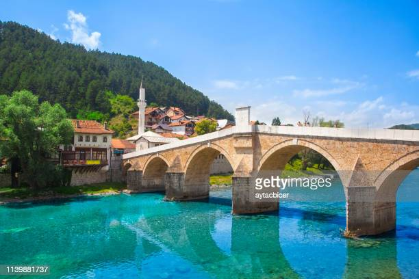 konjic bridge - bosnia and hercegovina stock pictures, royalty-free photos & images