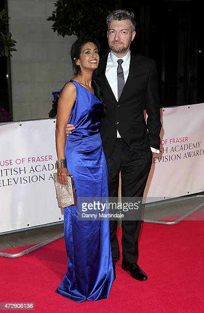 Konnie Huq and Charlie Brooker attends the After Party dinner for the House of Fraser British Academy Television Awards at The Grosvenor House Hotel...