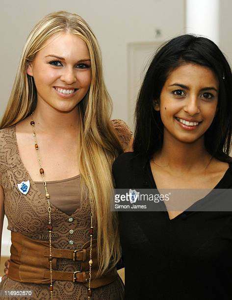 Konnie Huq and Guest during London Fashion Week Autumn/Winter 2006 Ben de Lisi Front Row at The Royal Opera House in London Great Britain