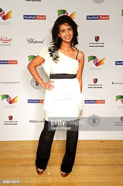 Konnie Huq attends a reception and dinner for supporters of The British Asian Trust at Natural History Museum on February 2 2016 in London England
