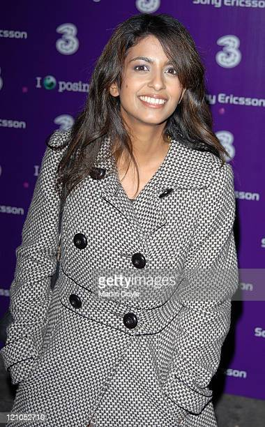 Konnie Huq attends the 3 Sony Ericsson K770i phone phone launch at the Bloomsbury Ballroom October 24, 2007 in London, England.
