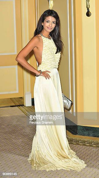 Konnie Huq attends the Ndoro Children's Charities fundraising gala at Dorchester Hotel on September 17 2009 in London England