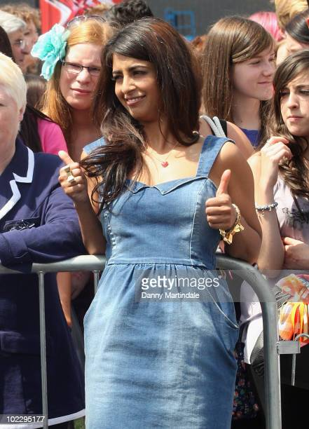 Konnie Huq attends the XFactor auditions held at the London's Excel Centre on June 22 2010 in London England