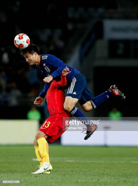 Konno Yasuyuki in action during the EAFF E1 Men's Football Championship between Japan and China at Ajinomoto Stadium on December 12 2017 in Chofu...