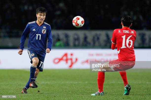 Konno Yasuyuki of Japan in action during the EAFF E1 Men's Football Championship between Japan and North Korea at Ajinomoto Stadium on December 9...
