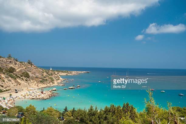 Konnos bay in Cyprus