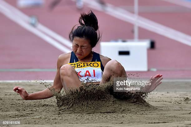 Konomi Kai of Japan competes in the Women's Long Jump during the SEIKO Golden Grand Prix 2016 at Todoroki Stadium on May 8, 2016 in Kawasaki, Japan.
