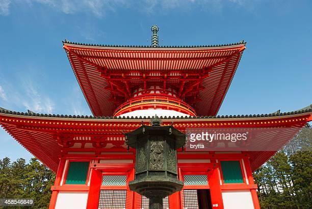 konpon daito-pagode in japan - koyasan stock-fotos und bilder