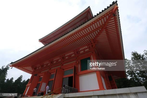 Konpon Daito pagoda stands in Danjo Garan an ancient holy temple complex on June 10 2019 in Koya Wakayama Prefecture Japan Koyasan or Mount Koya is...