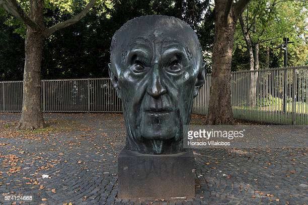 Konrad Adenauer statue in Bonn, Germany, 09 September 2014. Bonn, that offers many touristic attractions, was founded in the first century BC as a...